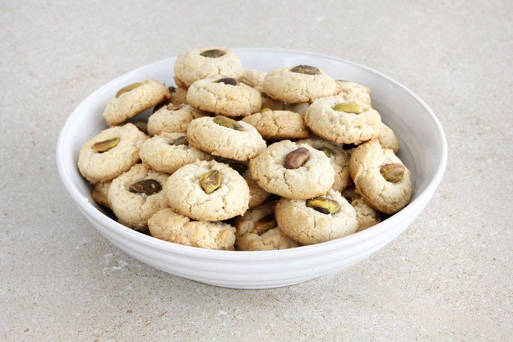 עוגיות טחינה ופיסטוקים