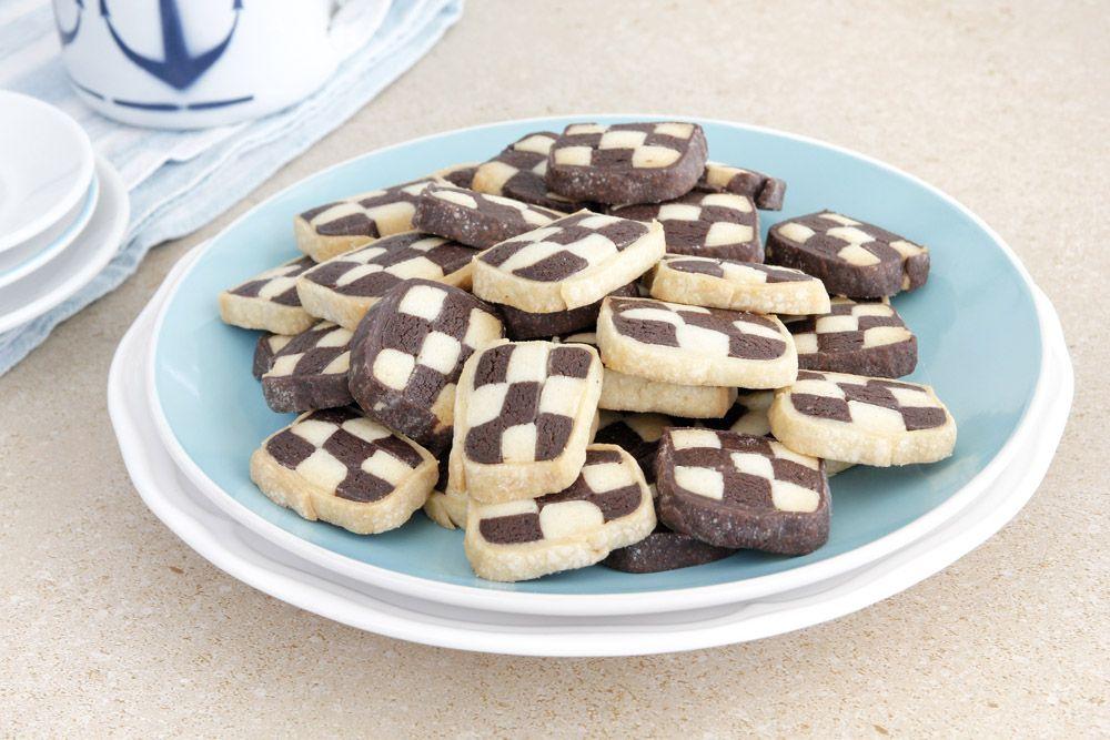 עוגיות חמאה בשחור ולבן