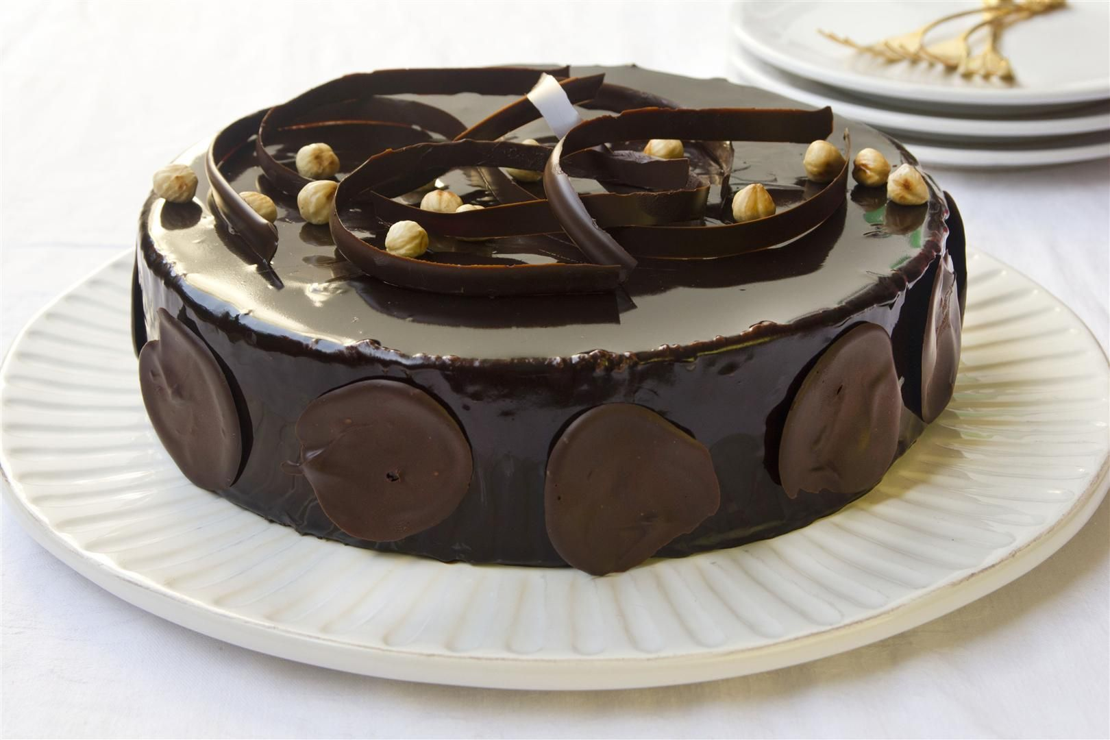 עוגת מוס שוקולד ומסקרפונה עם קפה