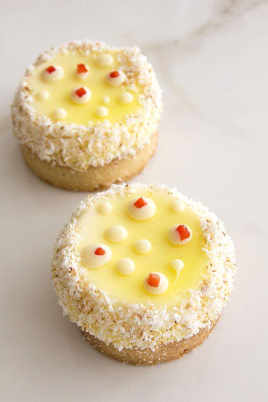 טארטלט לימון עם תותים וקוקוס