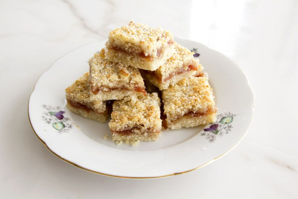 Coconut Jam Bars