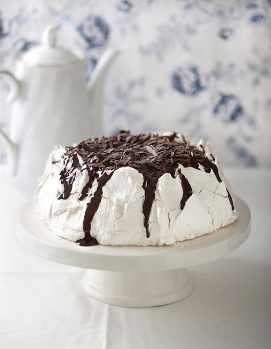 Coconut and Chocolate Pavlova
