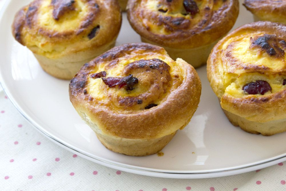 Lemon and Cranberry Rolls with Cream Cheese