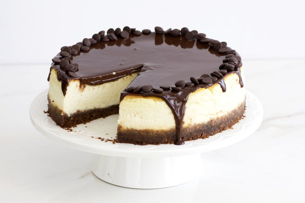 עוגת גבינה עם שוקולד מריר