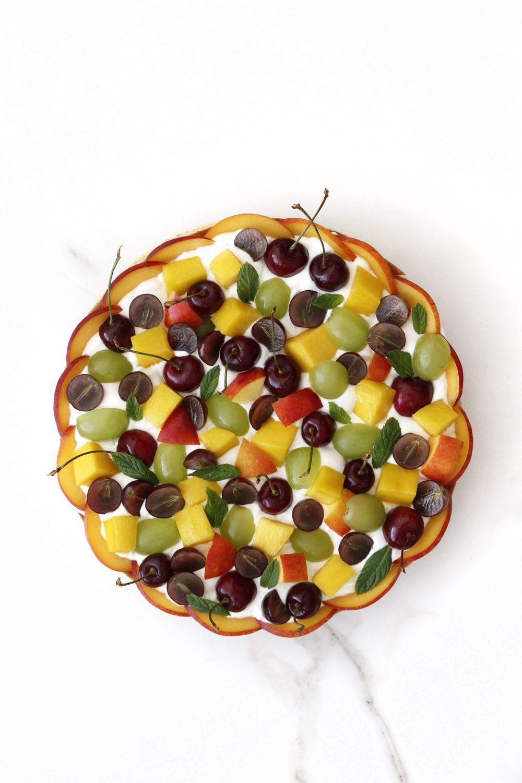 Fruit Tart with Yogurt Cream, Coconut and Lime