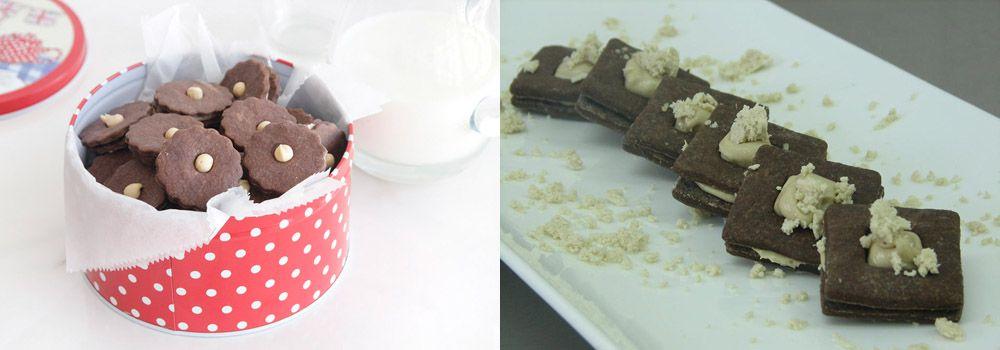 עוגיות סנדוויץ' שוקולד וחלבה