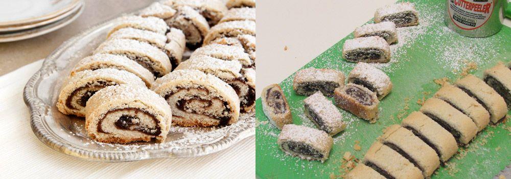 עוגיות מגולגלות עם תמרים, אגוזים וקינמון
