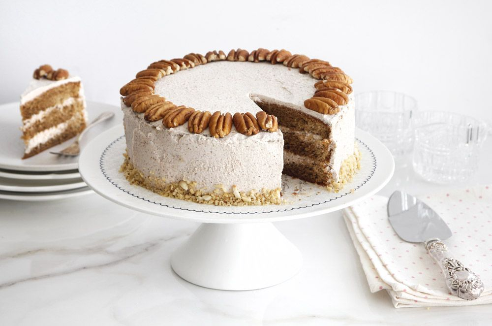 Coffee Layer Cake with Maple and Walnut