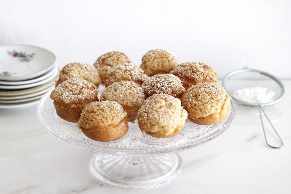 Pecan and Vanilla Cream Puffs