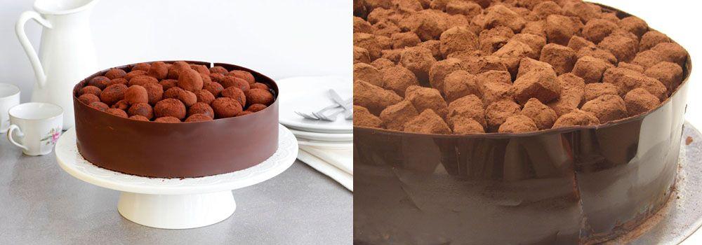 עוגת שוקולד וטראפלס