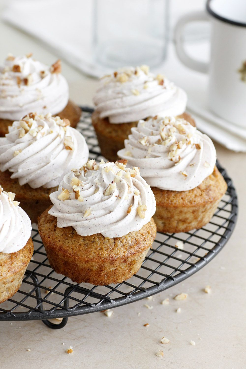 Pecan and Cinnamon Maple Cupcakes