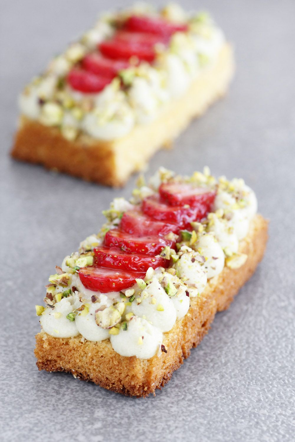 Strawberry Cake with Passion fruit and Pistachio Cream