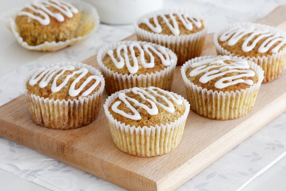 Orange Muffins with Oatmeal and Cinnamon