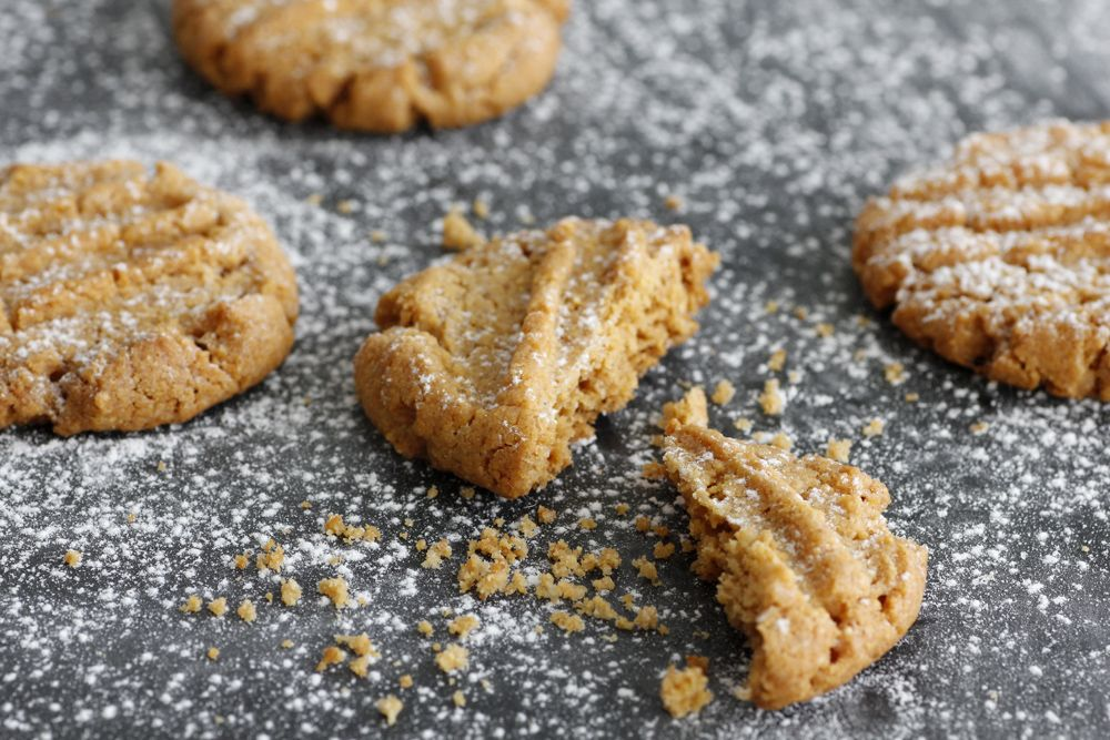Cornmeal Peanut Butter Cookies