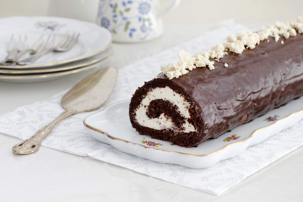 רולדת שוקולד וחלבה