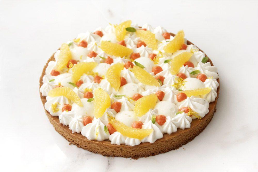 Orange Tart with Ricotta and Vanilla Cream