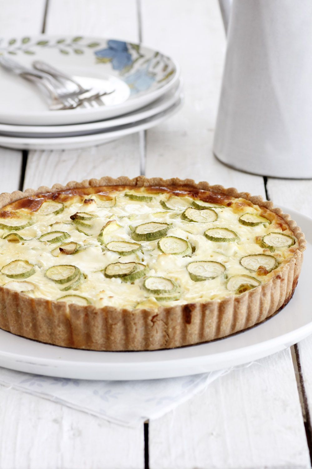 Zucchini Quiche with Ricotta Cheese