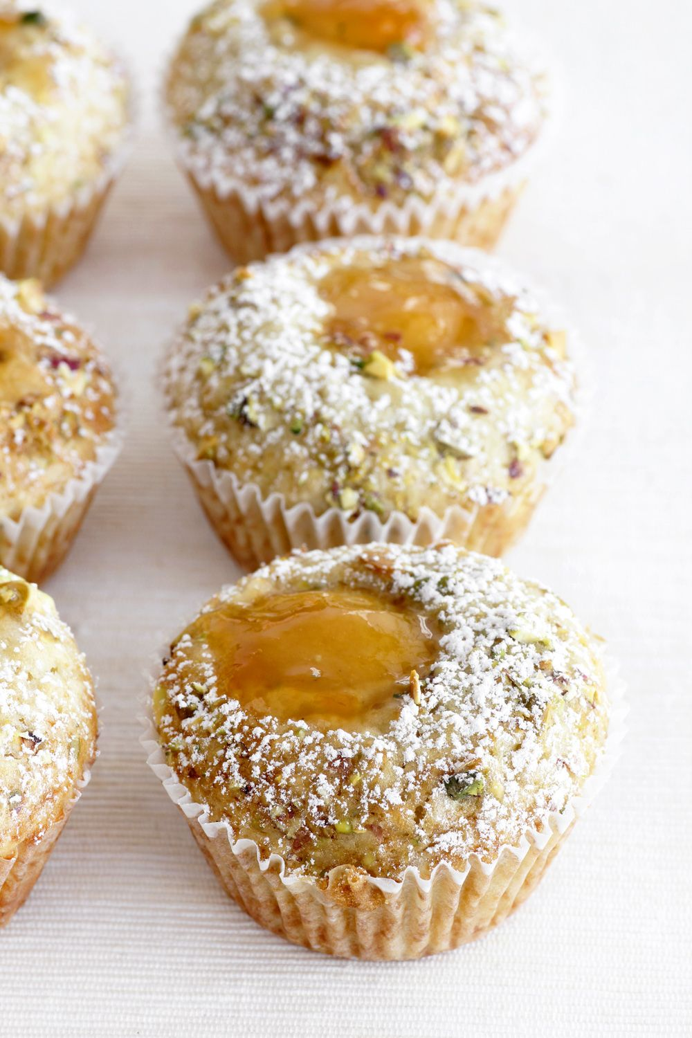 Apricot Muffins with Pistachio and Oats