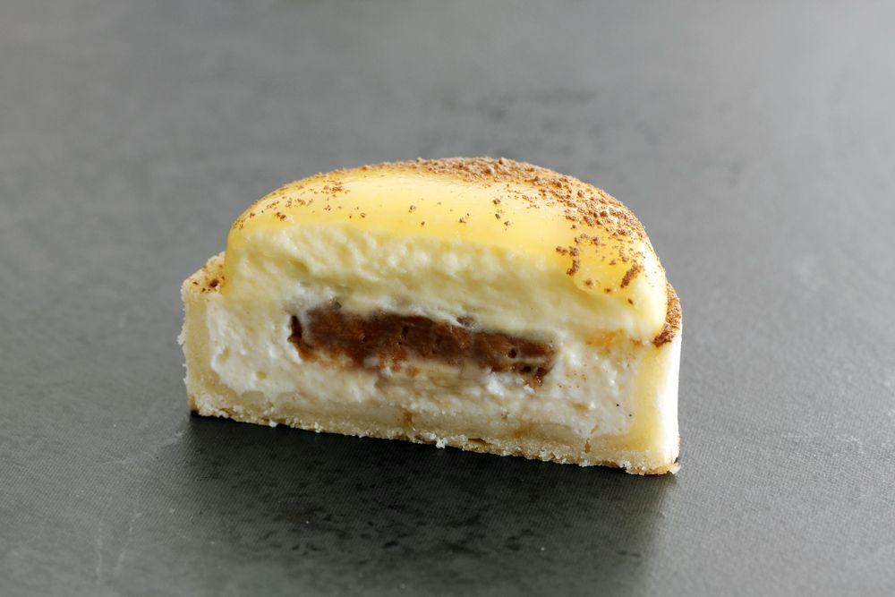 טארטלט גבינה ופסיפלורה עם שוקולד חלב