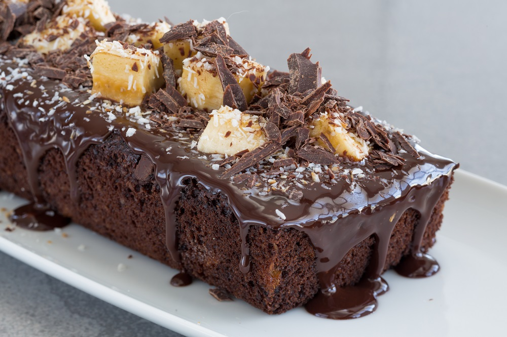 Coconut and Banana Chocolate Cake